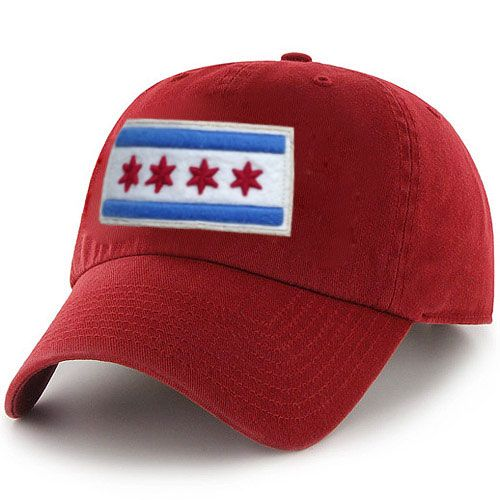 5f087b39315 City of Chicago Red Vintage Adjustable Flag Hat by ThirtyFive55 ...