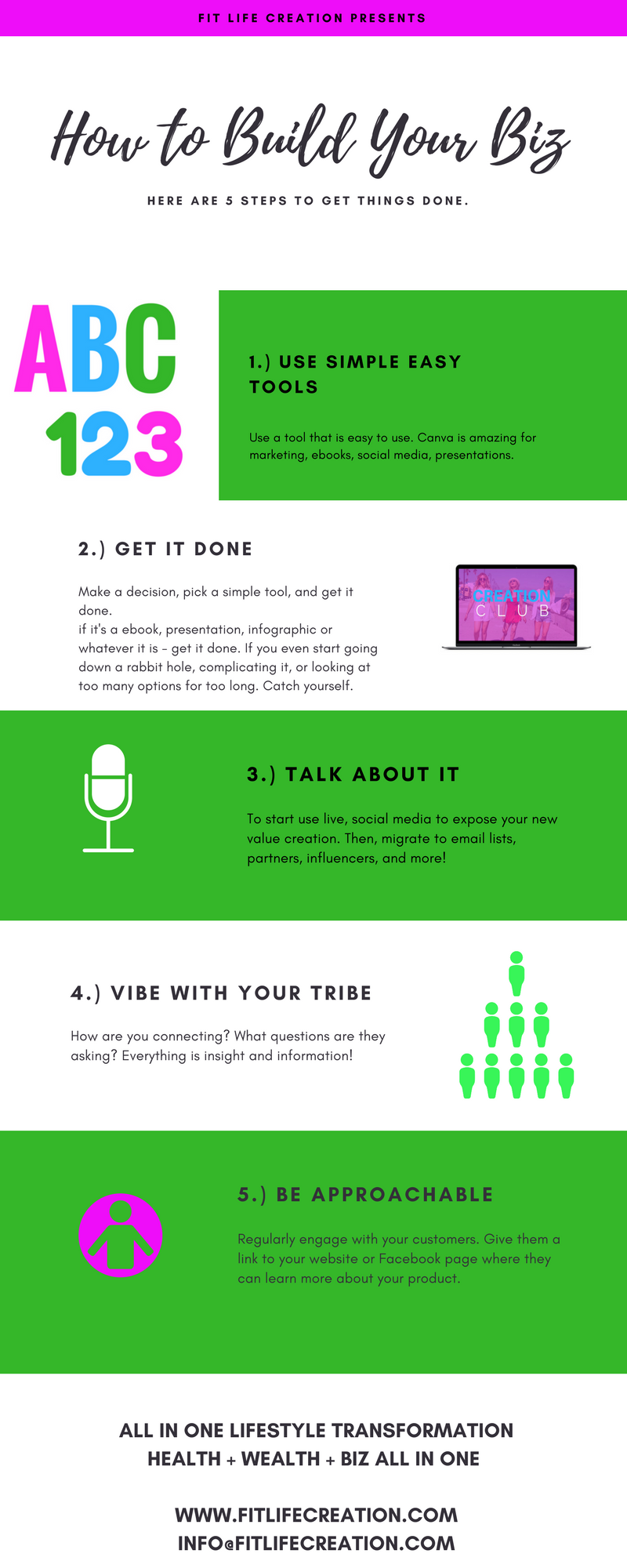How To Build Your Business With Five Steps Want To Create More With Us In Our All In One Lifestyl Lifestyle Transformation Getting Things Done 14 Day Challenge