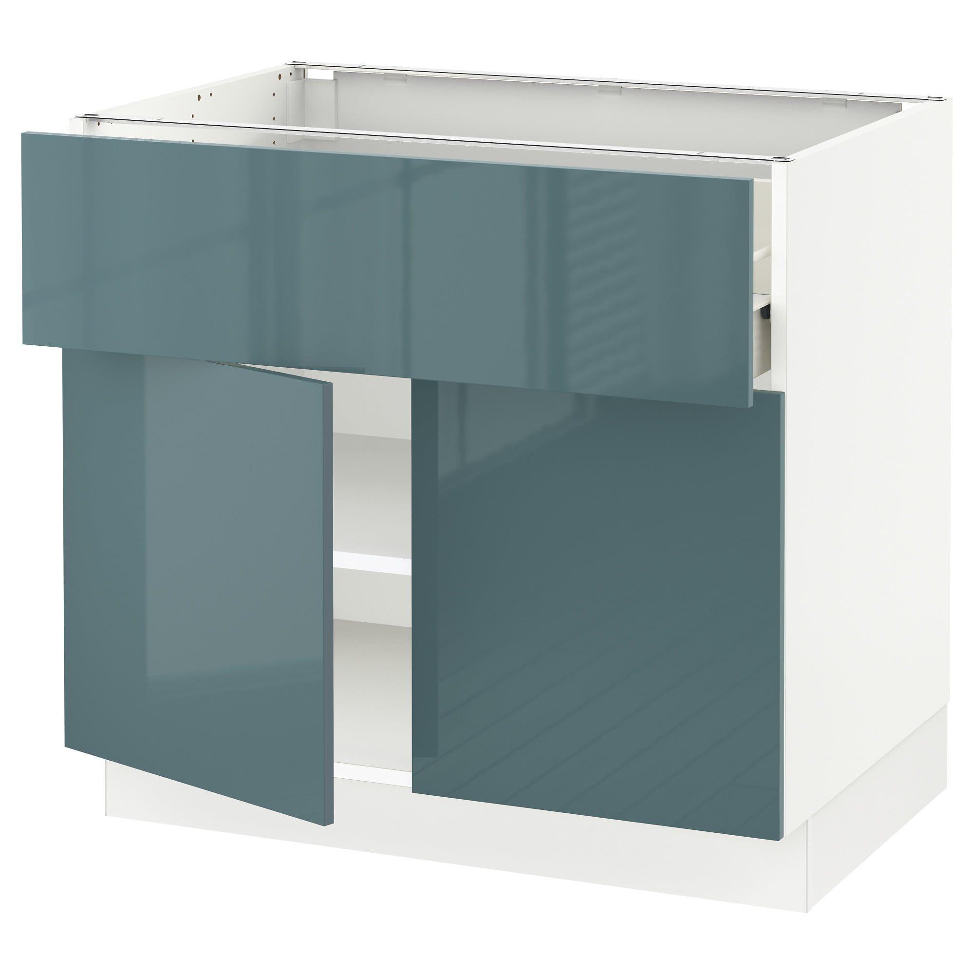 Best Sektion Base Cabinet With Drawer 2 Doors White Förvara 640 x 480