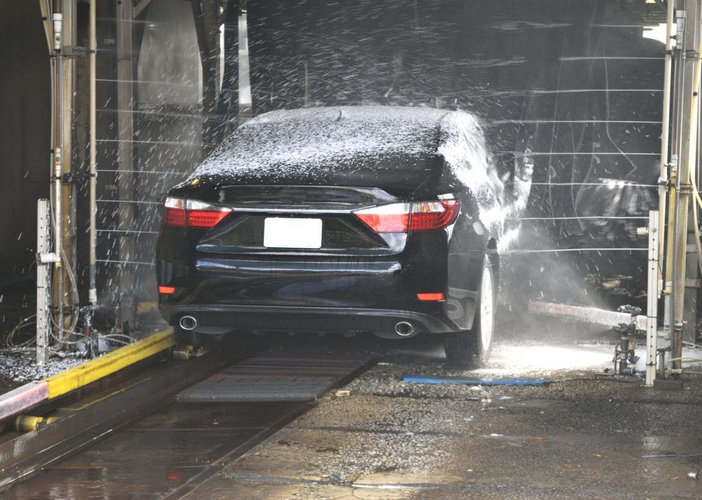 Toyota getting a Carwash from trey motors the used car