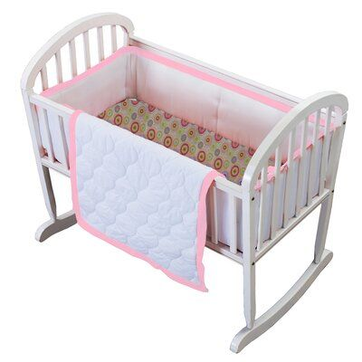 Grey Baby Doll Bedding Chevron Cradle Bedding Set