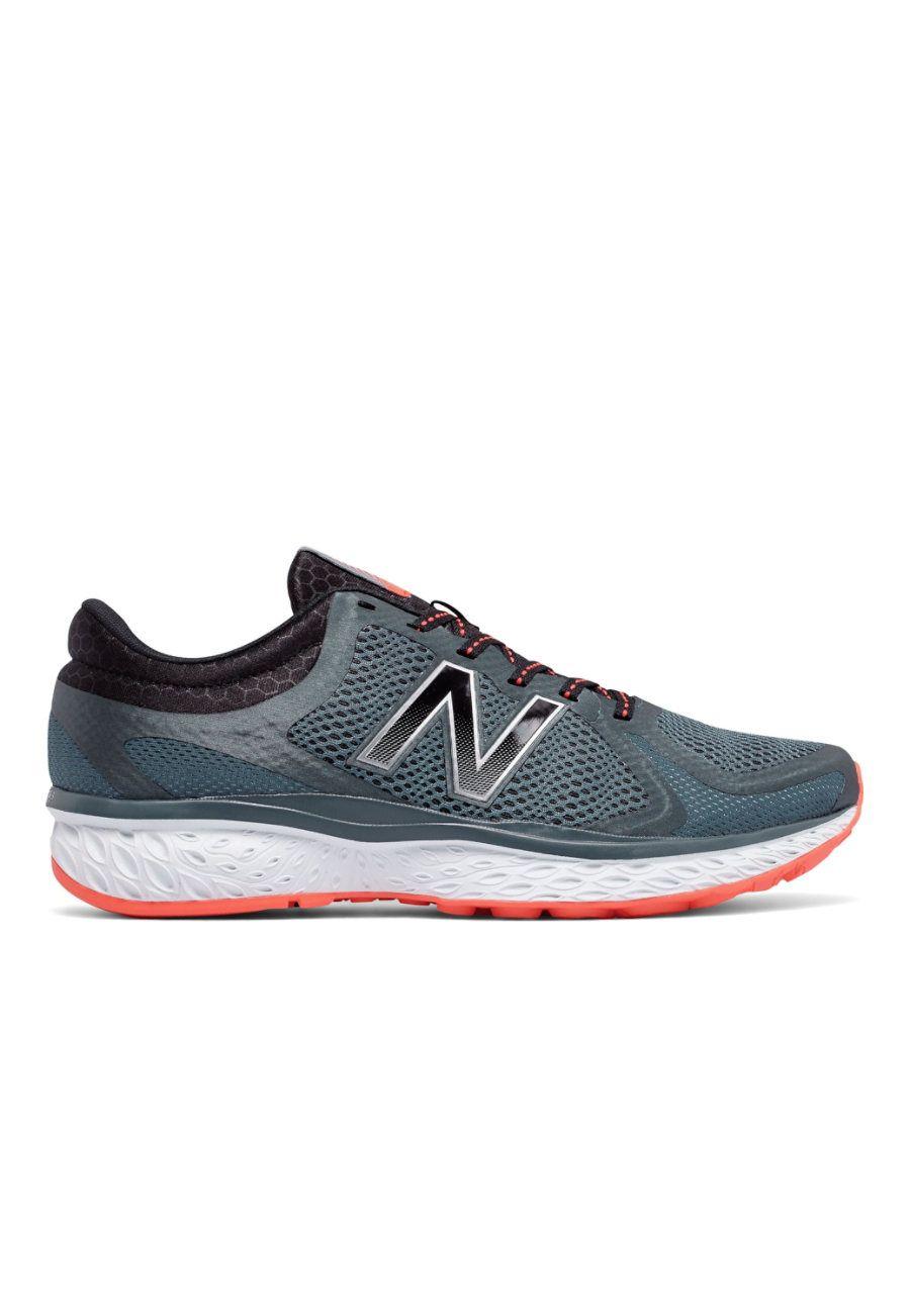New Balance 720v4 Comfort Ride Men's Athletic Shoes - Thunder/Alpha Orange  - 10: