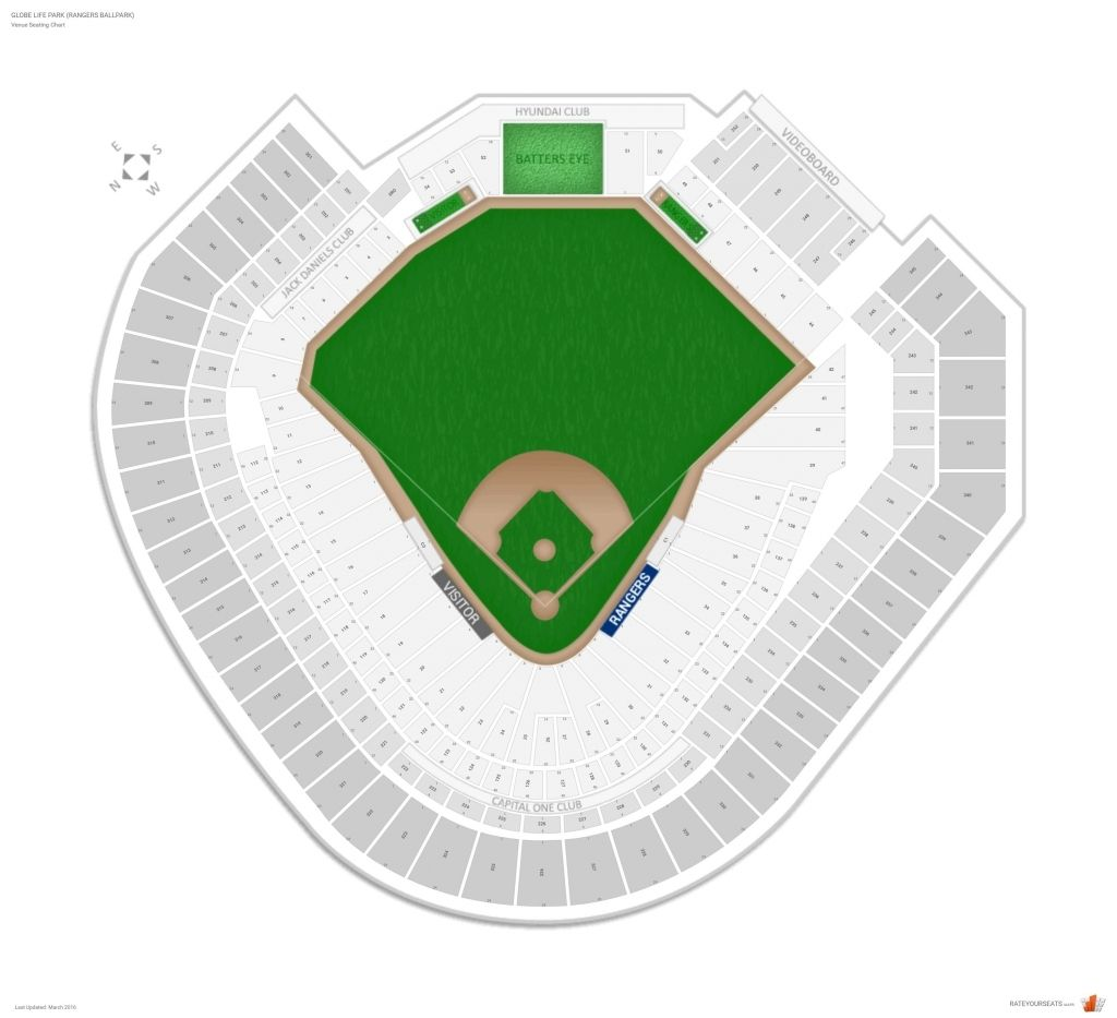 Stylish And Lovely Rangers Ballpark Seating Chart With Seat Numbers