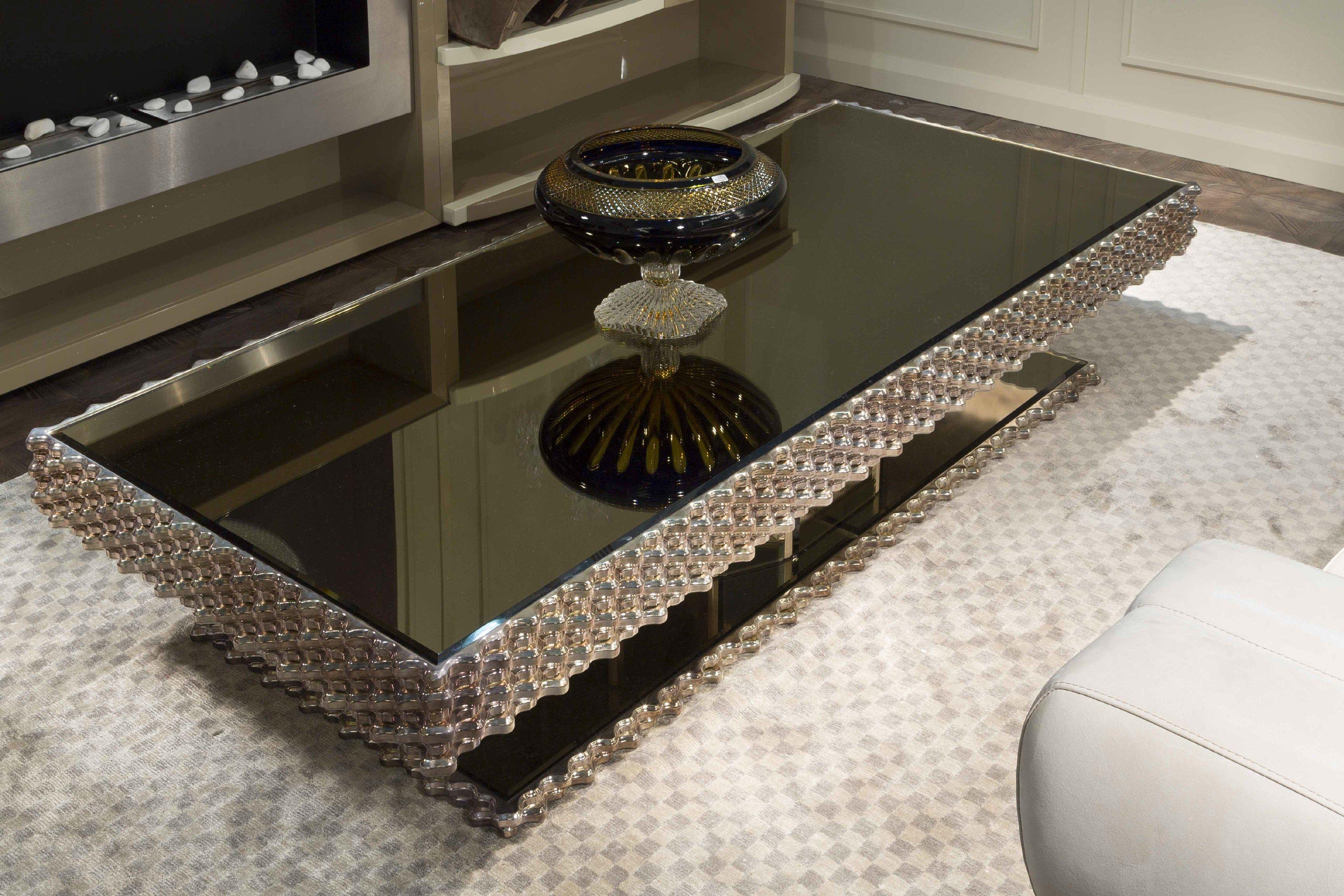 Mirrored Dark Coffee Table