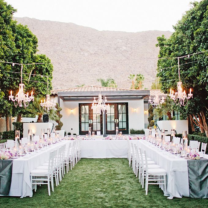 Ceremony Seating Reception: An Outdoor Wedding In Palm Springs