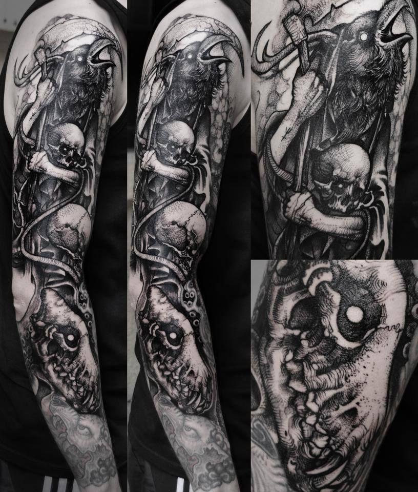 150b87a98 Grindesign   black work tattoos   Dark art tattoo, Tattoos und ...