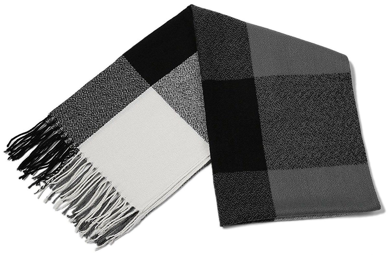 eb828356b44fe Women's Winter Scarf Tassel Plaid Scarf Warm Soft Large Blanket Wrap Shawl  Scarves - A-black - CH1888OILH3 - Scarves & Wraps, Fashion Scarves #SCARVES  ...