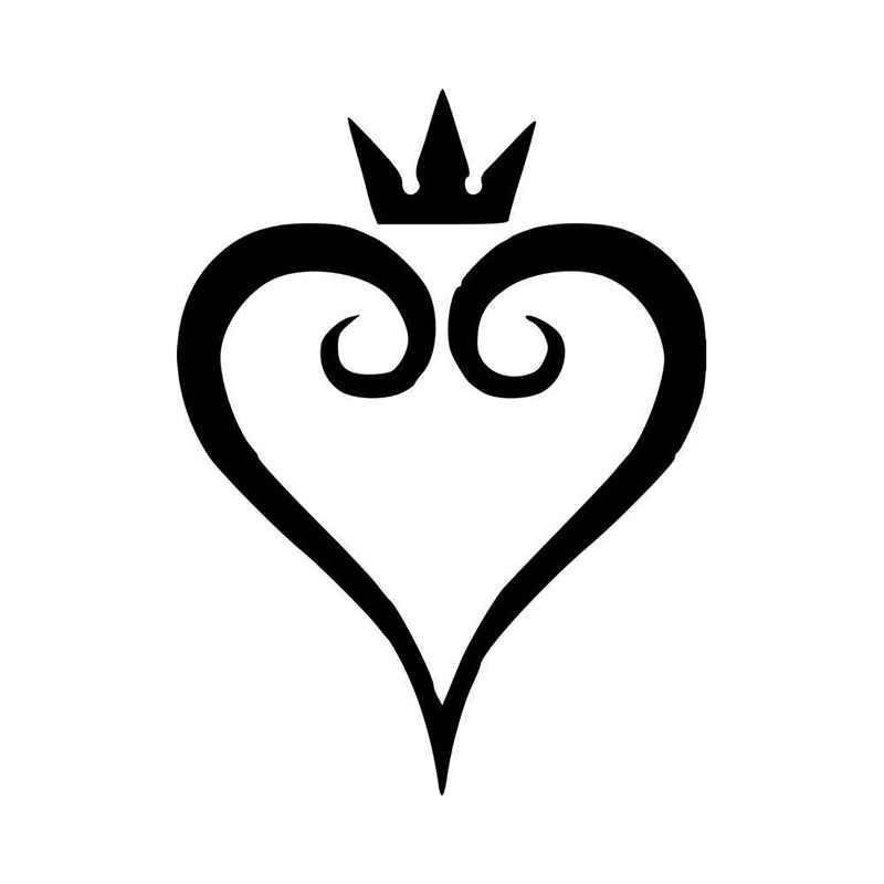 Kingdom Hearts Heart Vinyl Decal Sticker Ballzbeatz Com Kingdom Hearts Tattoo Queen Of Hearts Tattoo Kingdom Hearts