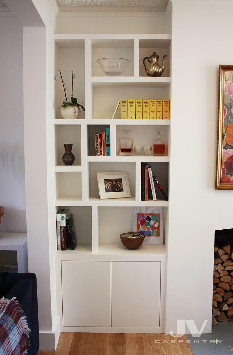 Fitted Alcove Bookcase Home Decor Pinterest Estante De Livros  -> Armario Estante Para Sala De Jantar