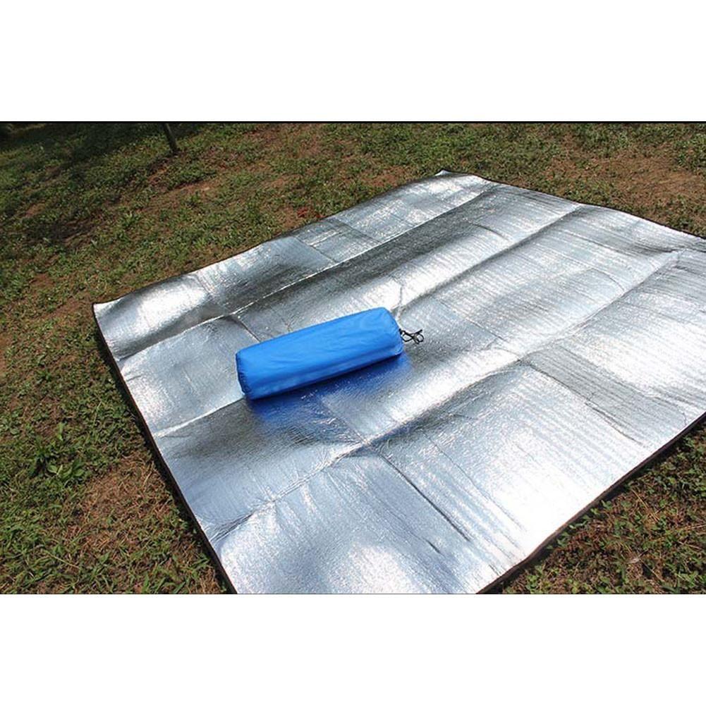Camping Mat Foldable Mattress Folding Sleeping Waterproof Aluminum Foil Mat Pad