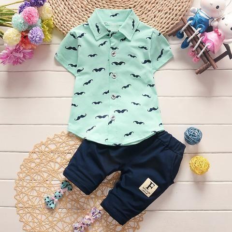 71cd6c8f6bb4 BibiCola Summer infants Baby Boy Clothing Sets Bebe T-shirt+Solid ...