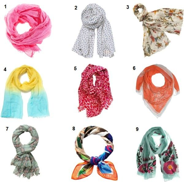 How to wear a scarf in summer 2017