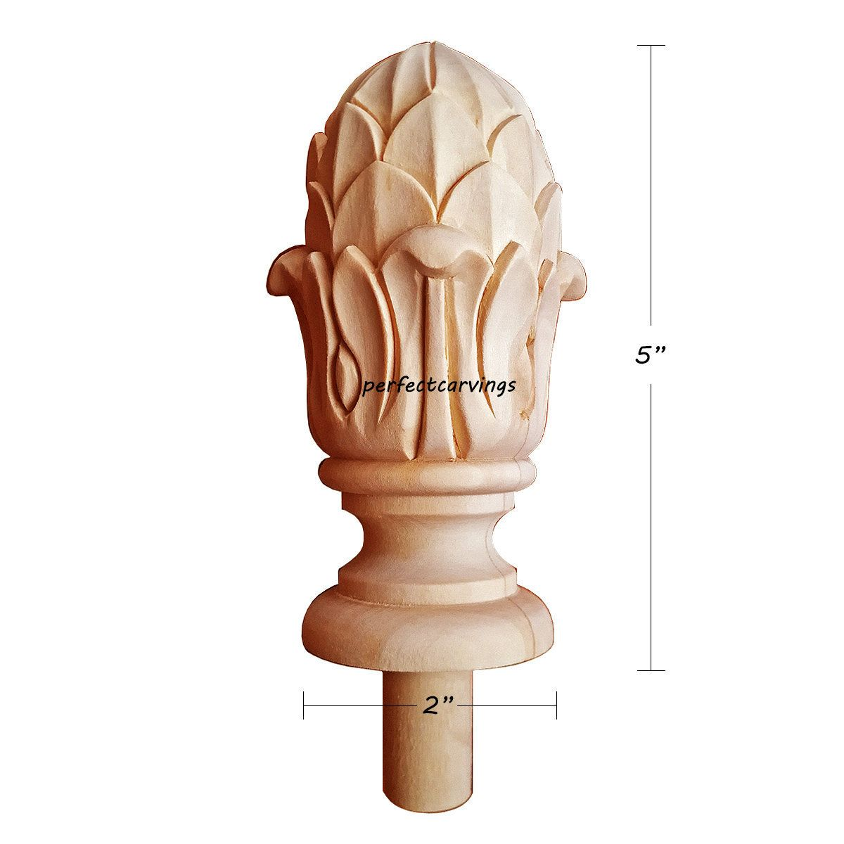 Pin On Finial For Post