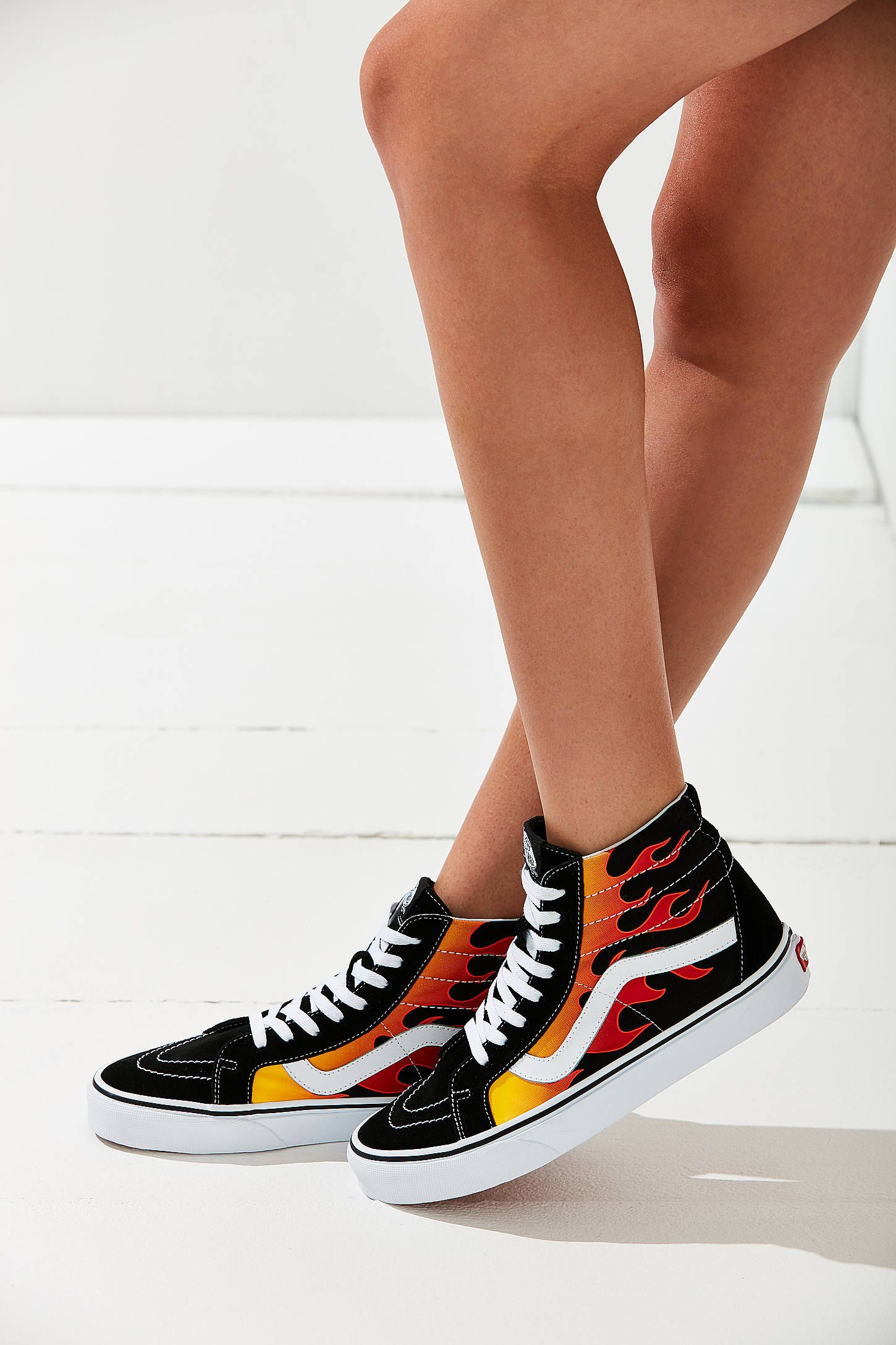 299fdad81776 Slide View  1  Vans Flame Sk8-Hi Reissue Sneaker