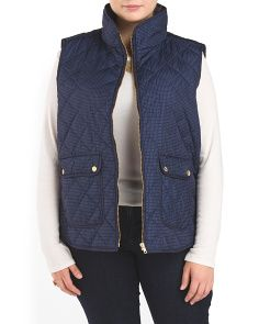 image of Plus Polka Dot Quilted Vest
