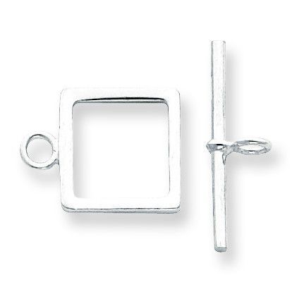 Sterling Silver Square Toggle Set SS3476