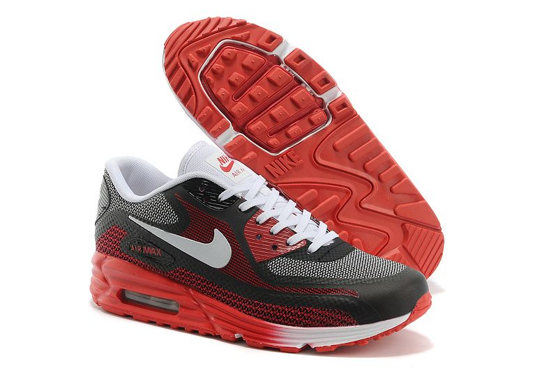 Womens Nike Air Max Black Red Mens Lunar90 Shoes
