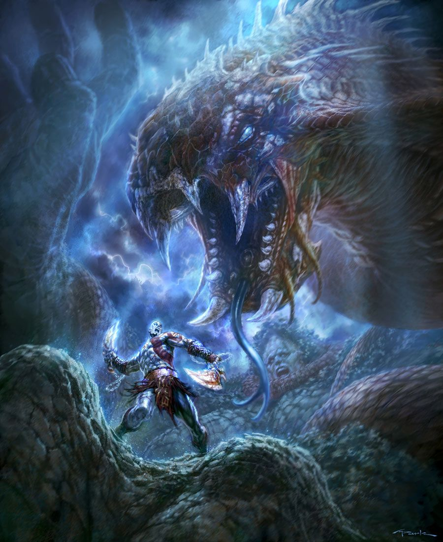 God Of War Iii Poseidon God Of War God Of War Series