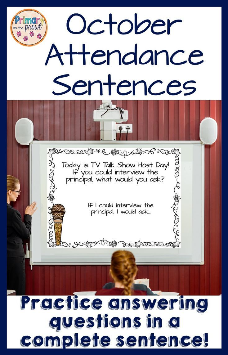 Speaking and Writing in Complete Sentences in October