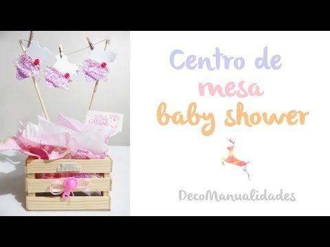 Centro de mesa BABY SHOWER - YouTube cosas manuales para eventos - centros de mesa para baby shower