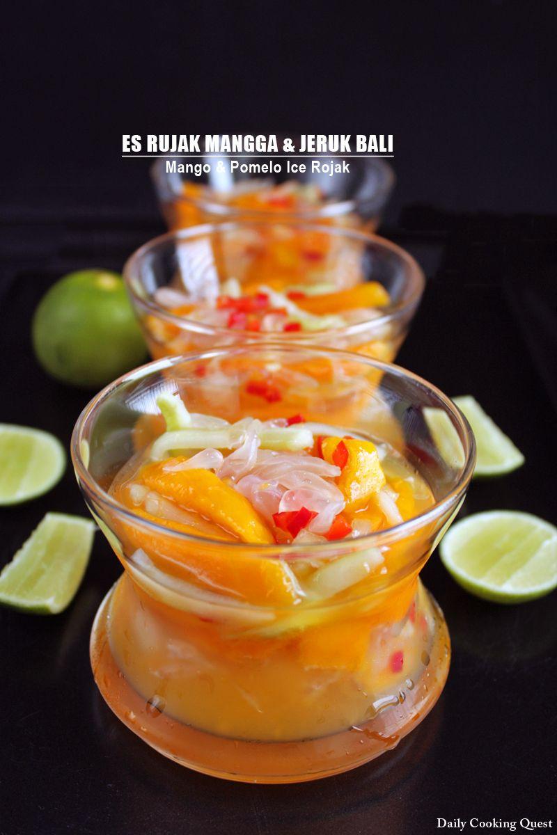Es Rujak Mangga Dan Jeruk Bali Mango And Pomelo Ice Rojak Jeruk Bali Manisan Buah Makanan