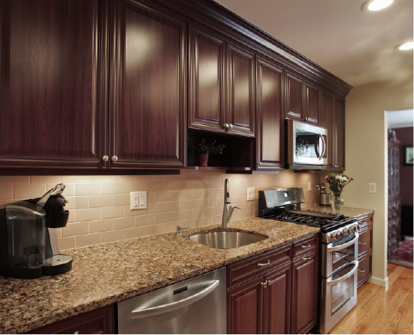 Cambria Canterbury Backsplash Ideas Traditional Kitchen With Simple Backsplash