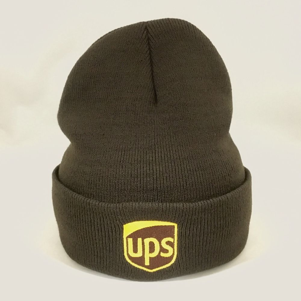 d1763494197 UPS Beanie Winter Hat Decky Custom Embroidery Cuffed ups Knit Brown   fashion  clothing  shoes  accessories  mensaccessories  hats (ebay link)