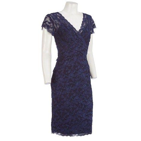 2ef5f631c Cap Sleeve Lace Dress w  Sequins Burlington Coat Factory
