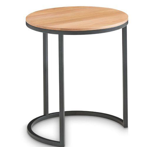 Mercury Row Lorelai Side Table Retro Side Table Cube Side Table Round Side Table