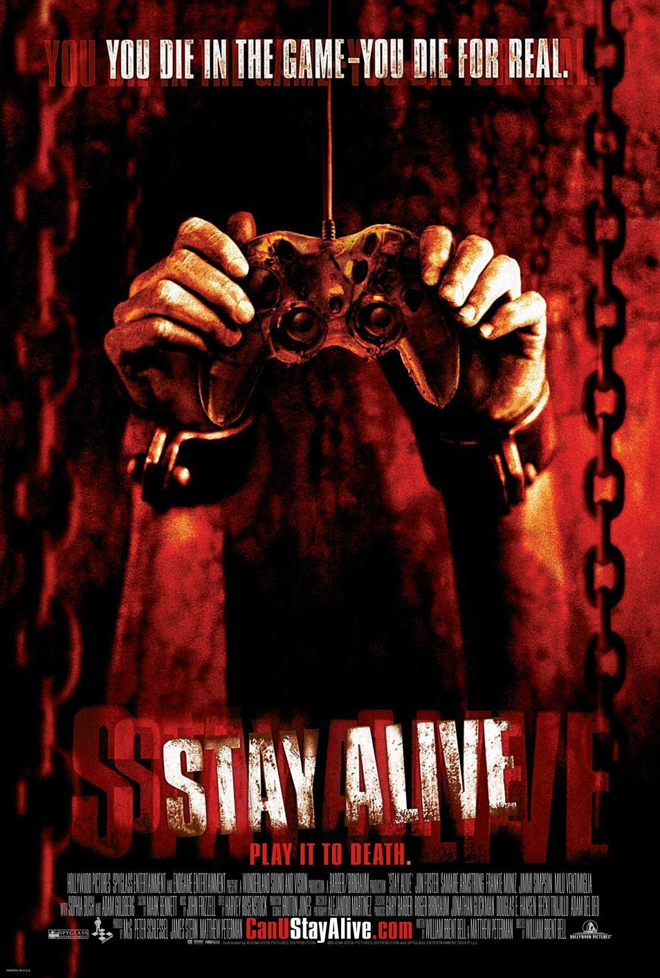 Extra Large Movie Poster Image For Stay Alive Horror Movies Staying Alive Horror Movie Posters
