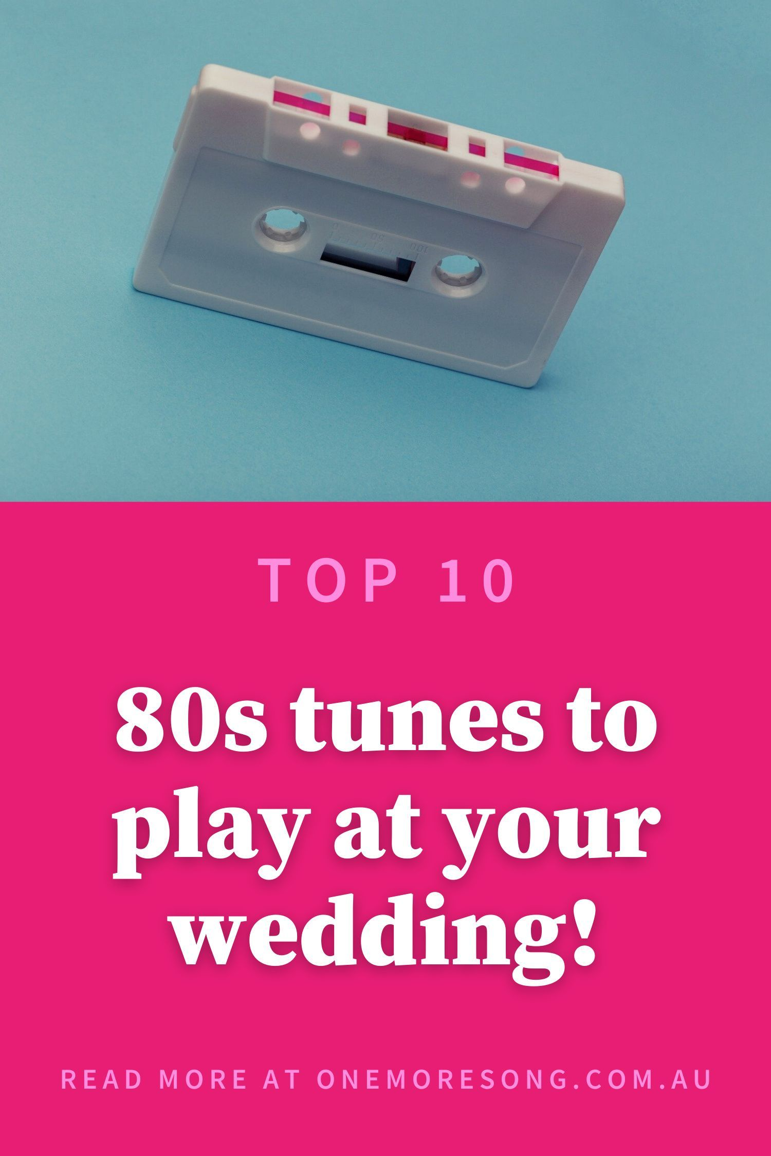 Melbourne's One More Song Wedding DJs list their all-time fave 80s dance floor jams perfect for a wedding reception! #weddingsongs #weddingplaylist #weddingsongsplaylist #weddingdj #weddingmusic