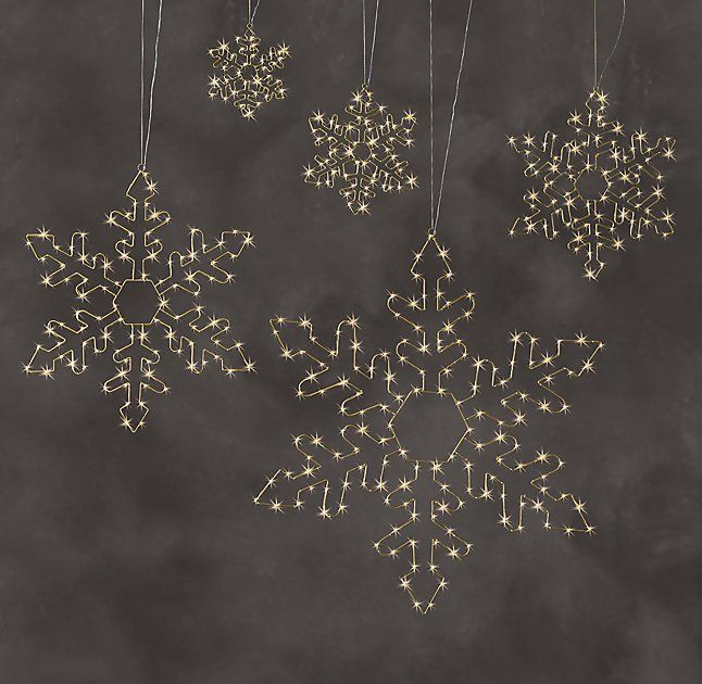 Starry Light Hexagon Snowflake Collection - Gold
