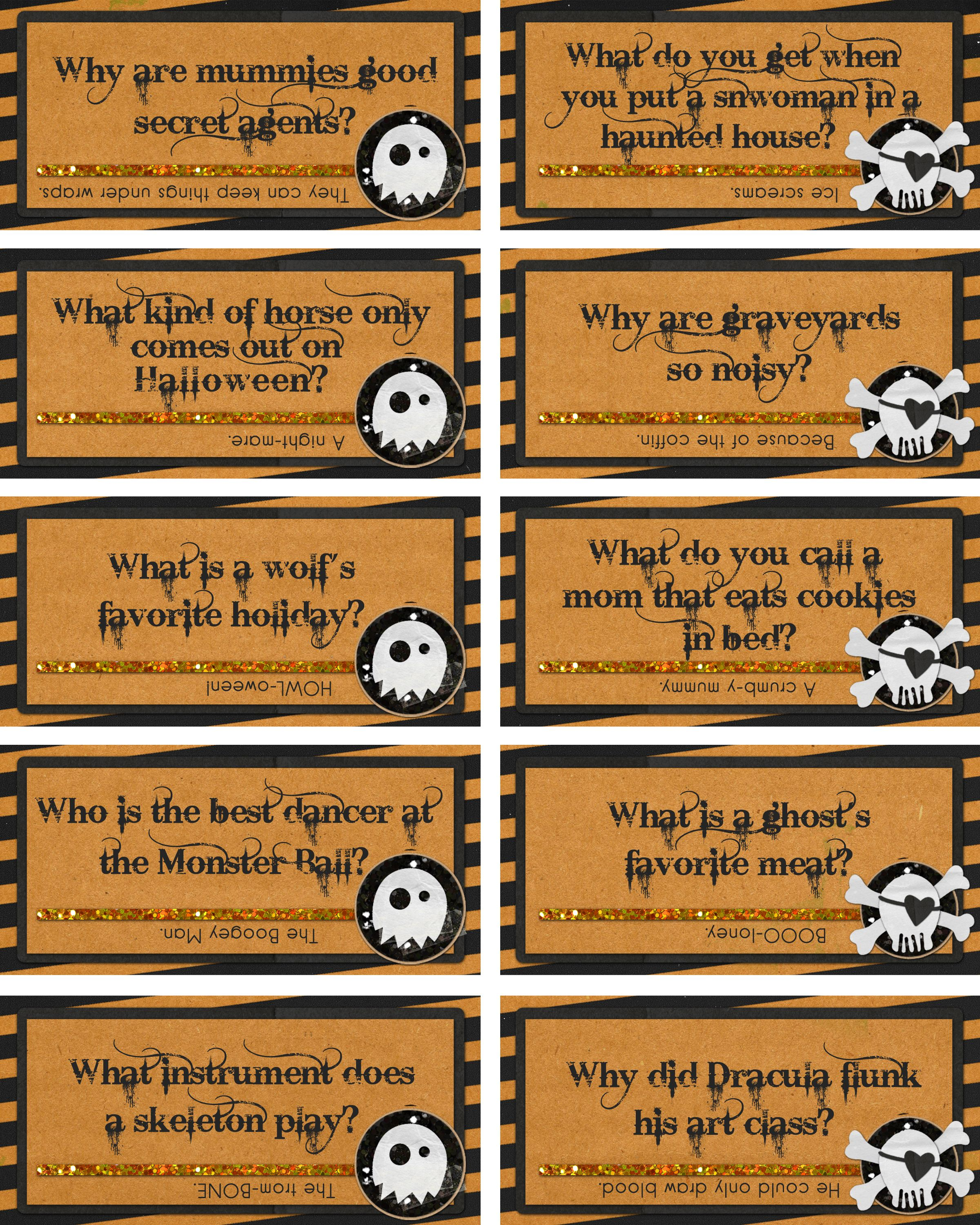 Halloween Jokes Worthy Of A Few Chuckles From My 9 Year Old Lunchbox Jokes Halloween Lunch Box Notes Lunch Box Notes
