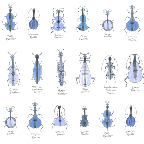 bluegrass beetles small fabric by weavingmajor on Spoonflower - custom fabric