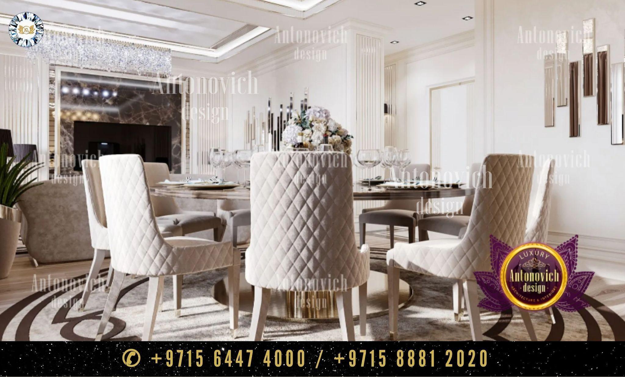 Turnkey Interiors Elite Fit Out Modern Dining Room Design تصميم غرفة طعام حديثةut Elegant Interior Design Interior Design Interior Design Dubai