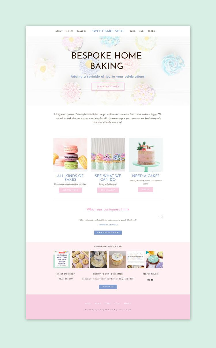 Bake This Happen Website Template Branding Web Design For Bakers Online Store Web Design Web Design Web Design Templates Free