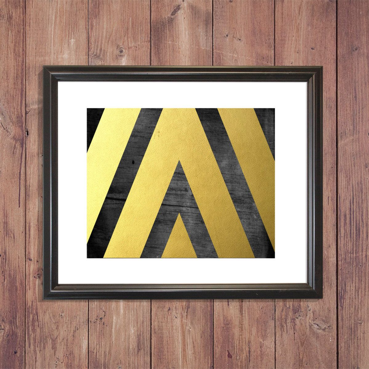 BUY 1 GET 1 FREE! Black and Gold Geometric Print Gallery Wall Prints ...