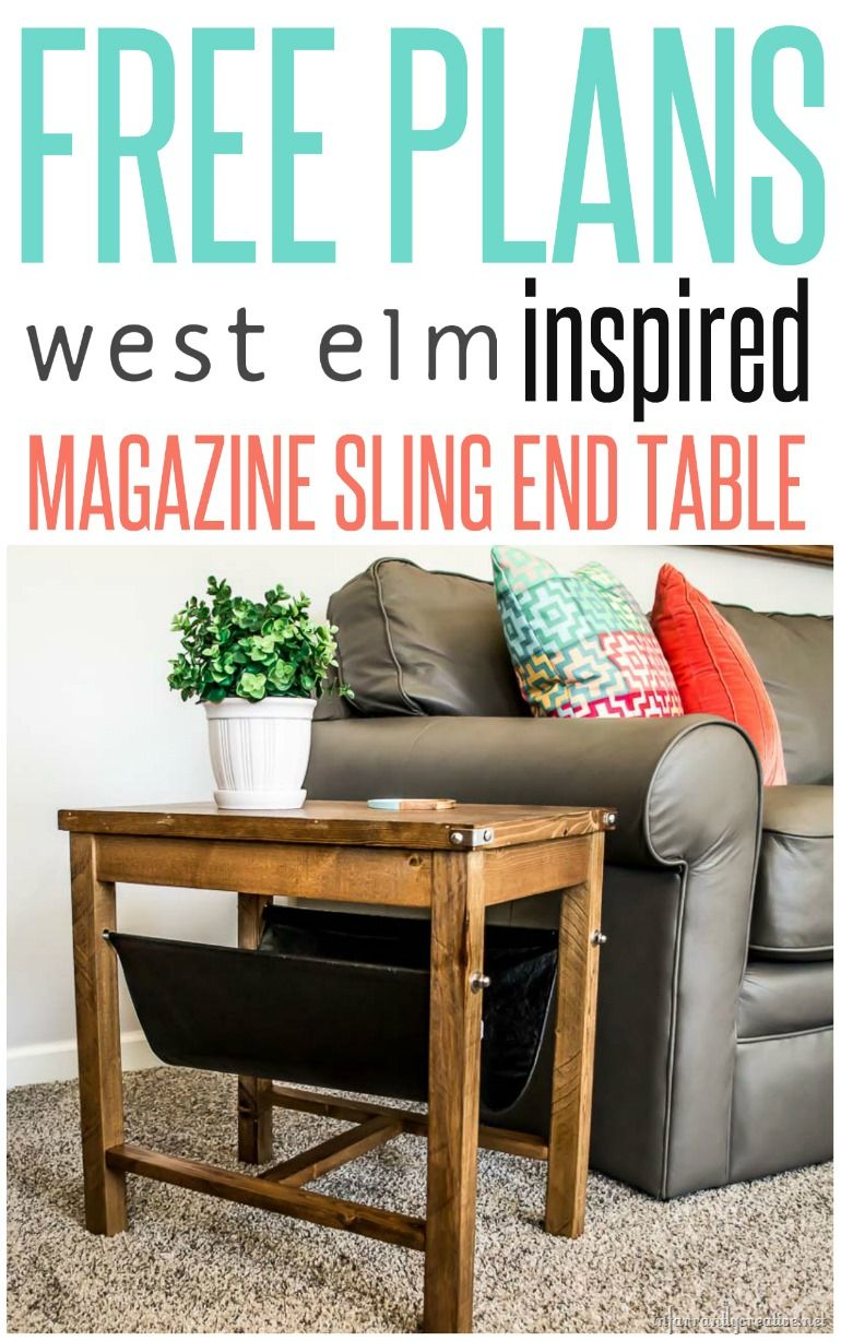 West Elm Leather Sling Side Table Knock Off