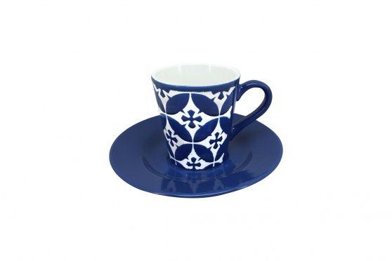 Taza de Café Azulejo Azul