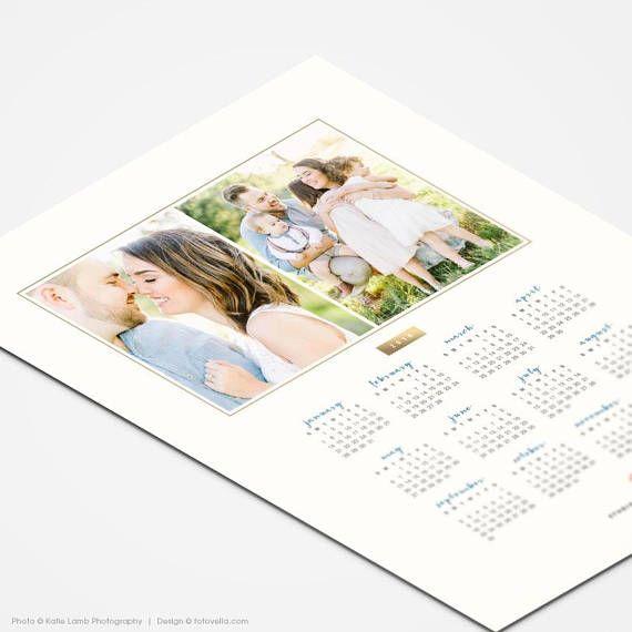 2018 2019 Calendar Template 8x10 Photo Calendar Photoshop