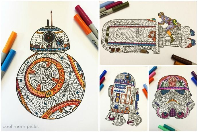 The coolest Star Wars Force Awaken coloring pages | Dibujo, Colorear ...