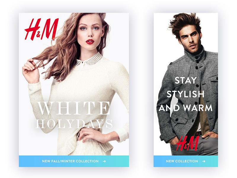 Banners H&M ads | 服飾