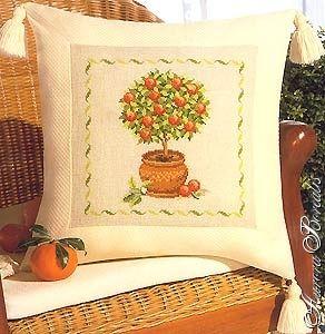 Вышивка крестом-апельсиновое дерево