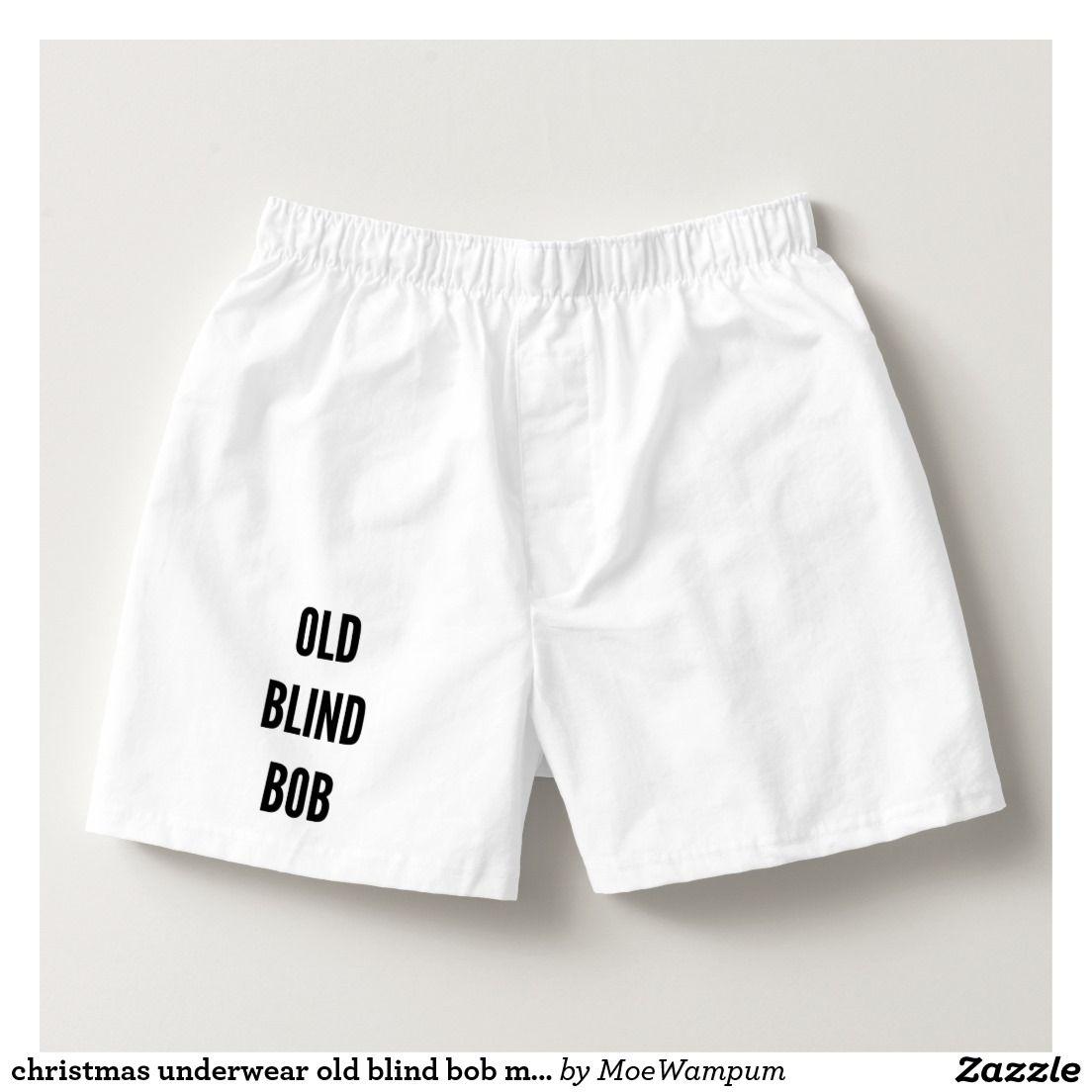 christmas underwear old blind bob mens boxers