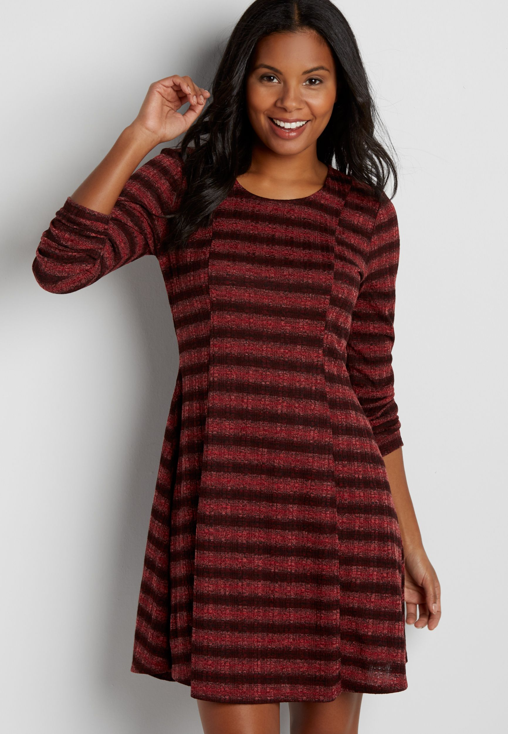 67da85cdfbb ribbed sweater dress with stripes (original price