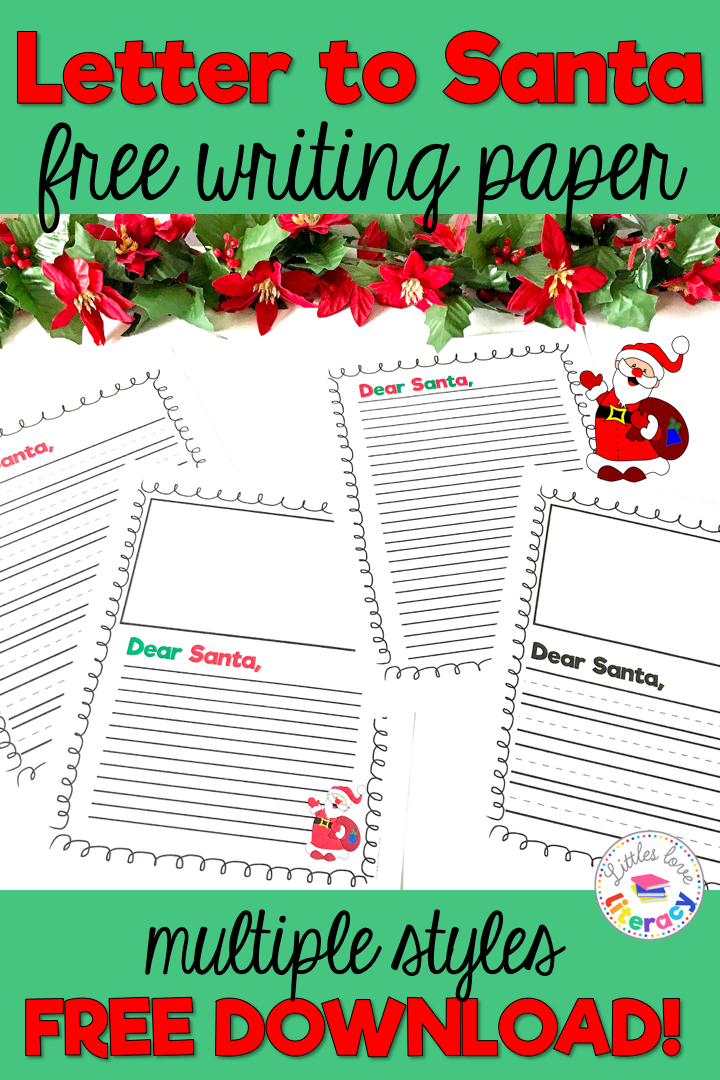 Free Letter To Santa Christmas Writing Paper Christmas Writing Paper Christmas Writing Writing Paper