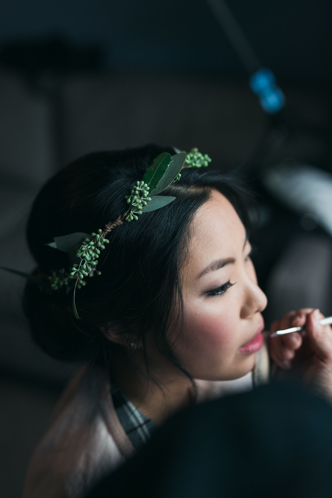 Greenery crown with seeds for jenny wedding at 26 bride in