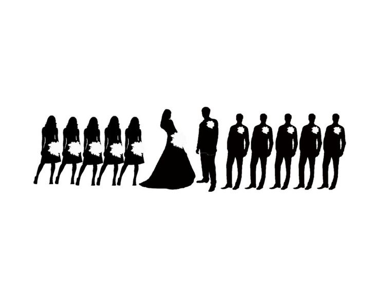 wedding party silhouette clip art silhouette clip art wedding rh pinterest com Wedding Party Entrance Wedding Party Word Clip Art