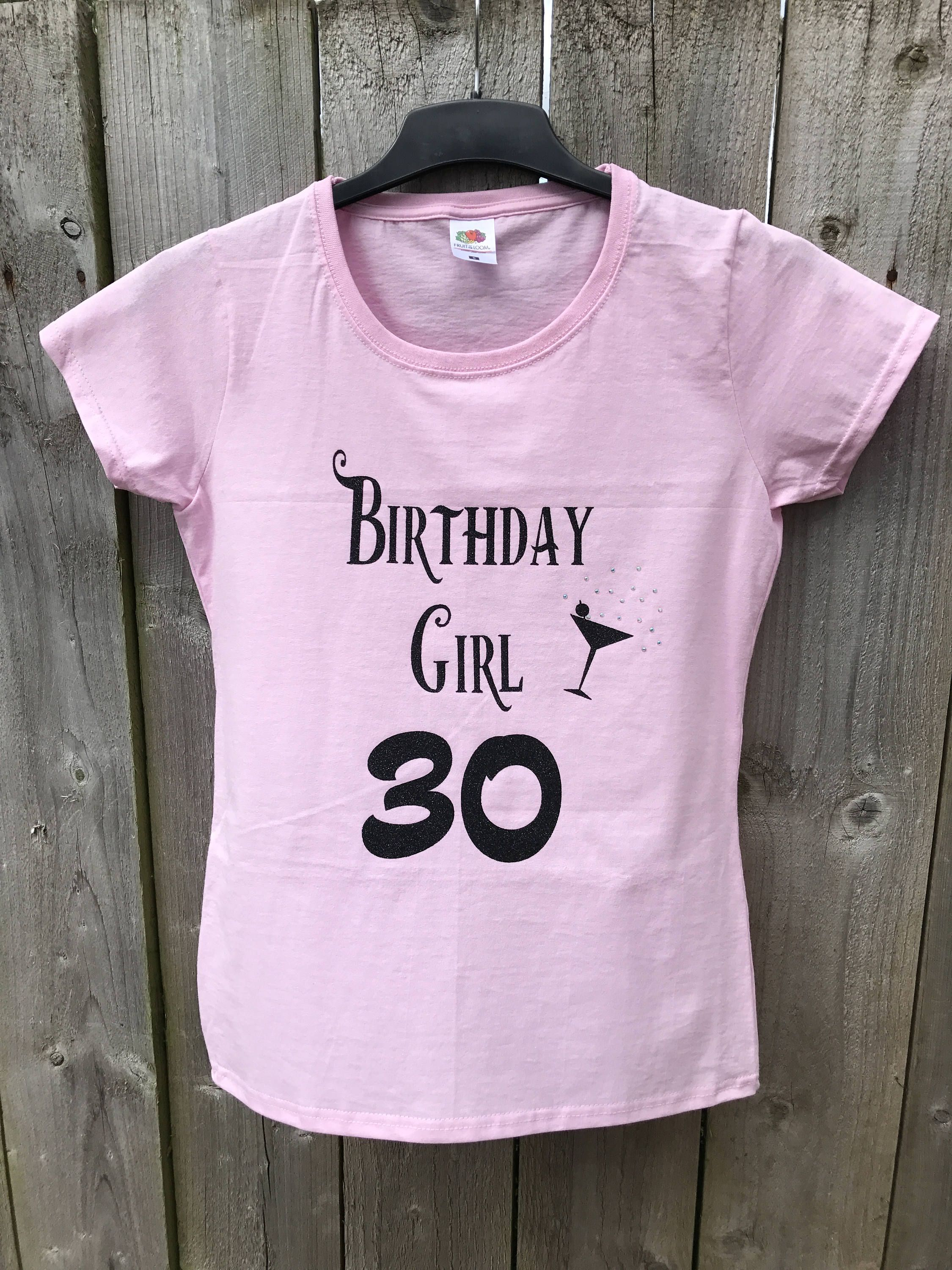 Personalised Birthday T Shirt Girls On Tour Hen Party Entourage Tops 18th 25th 30th 40th 50th 60th Birtday Gift By