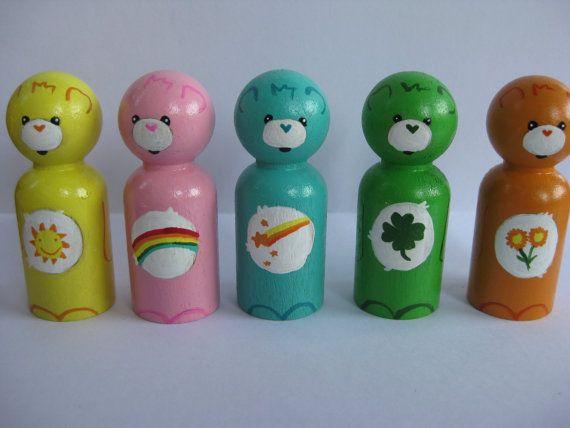 Loveable bears peg doll set by IGotyouPegged on Etsy, $30.00